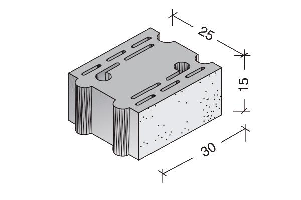 Bloque Termo-acústico 30 x 20 x 17 cm.
