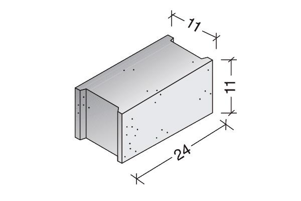 Ladrillo Arliblock 25 x 12 x 11 cm.