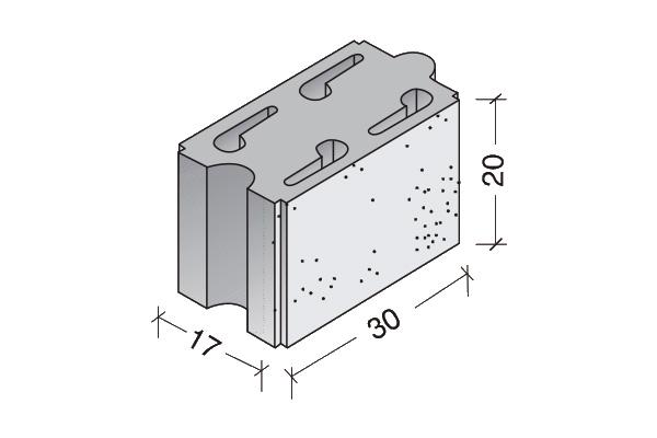 Bloque Acústico Arliblock 30 x 20 x 17 cm.
