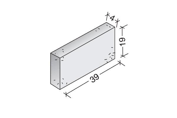 Plaqueta Standard 40 x 20 x 4 cm.