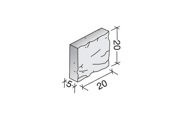 Media plaqueta Split 20 x 20 x 5 cm.