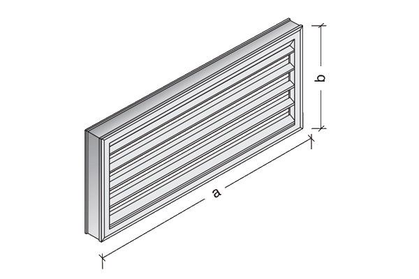 Rejillas de ventilación de hormigón de lamas fijas 40 x 40 cm. 60x60 cm. 60 x 30 cm.