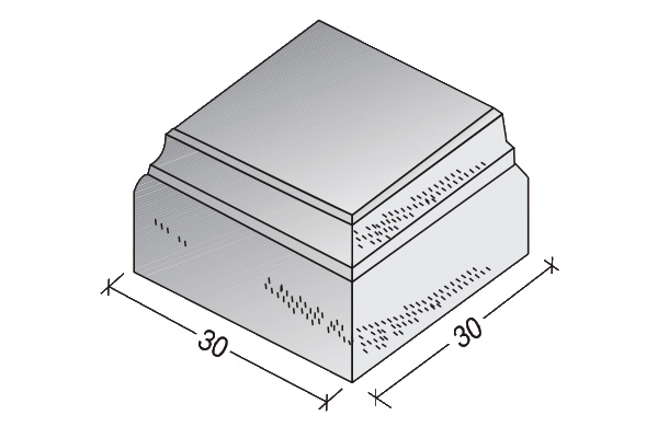 Sombrerete Clásico III 30 x 30 x 12 cm.