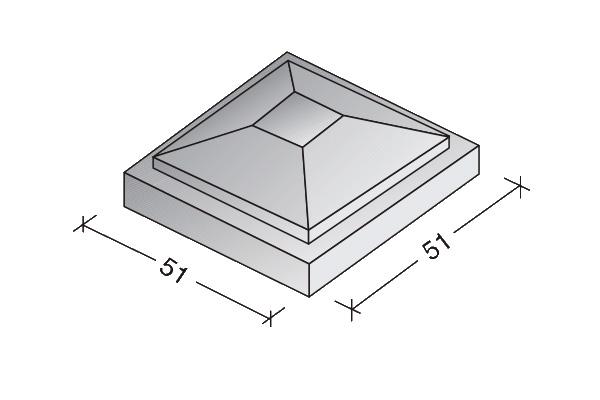 Sombrerete modelo I 51 x 51 x 24 cm.
