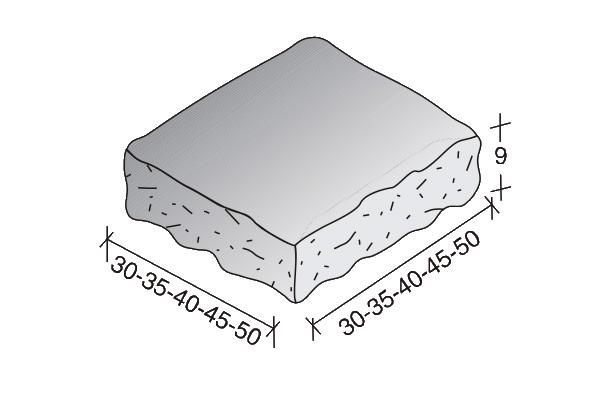 Sombrerete Split 30/35/40/45/50 cm.