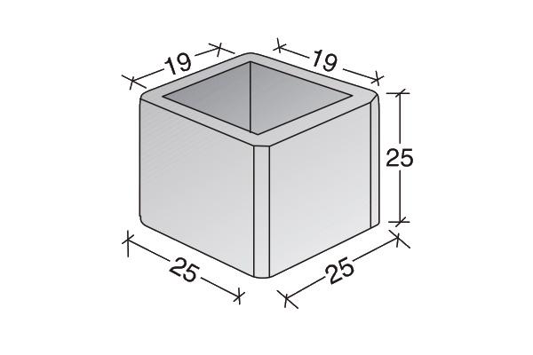Conducto de ventilación pieza simple unitaria