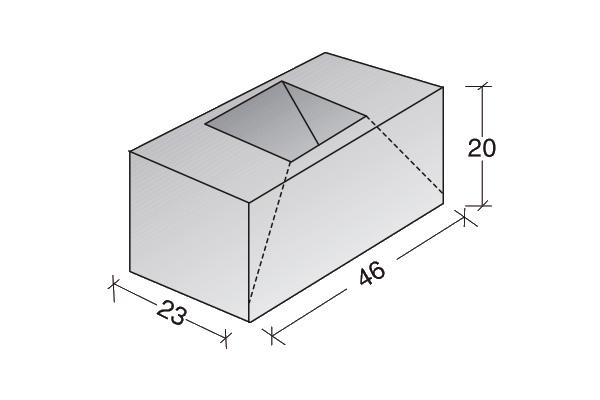 Conductos de ventilación de hormigón desvío doble
