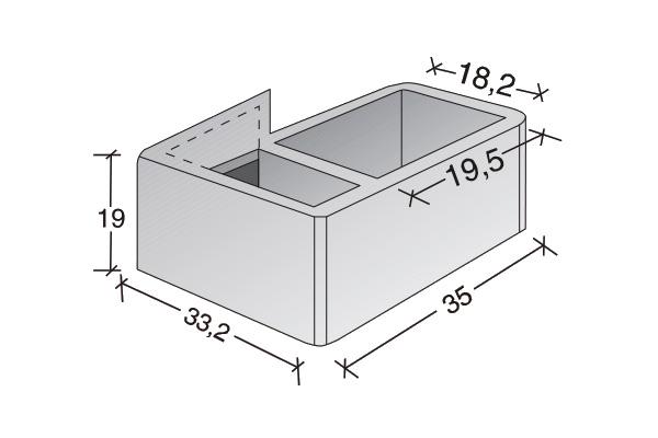 Conducto de ventilación acometida simple