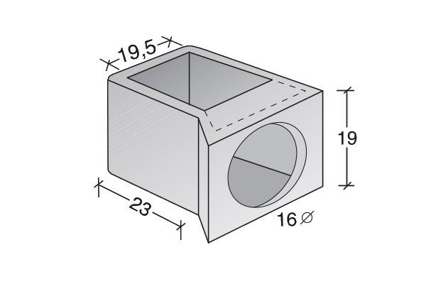 Conducto de ventilación acometida Standard
