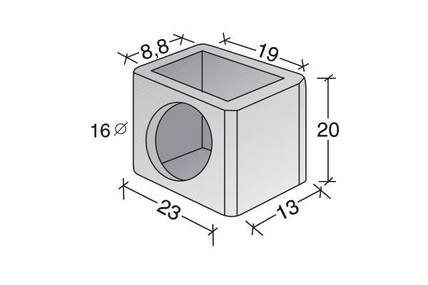 Conducto de ventilación acometida lateral