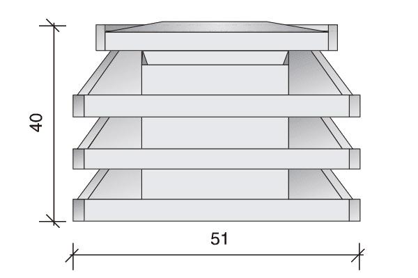 Aspiradores estáticos I, 51 x 41 x 40 cm.