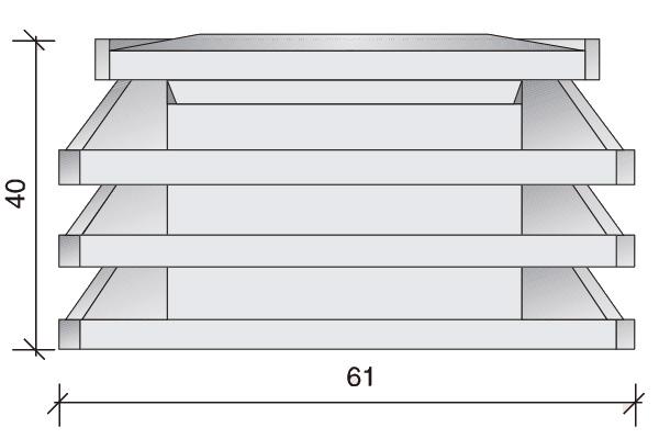 Aspirador estático II, 61 x 41 x 40 cm.