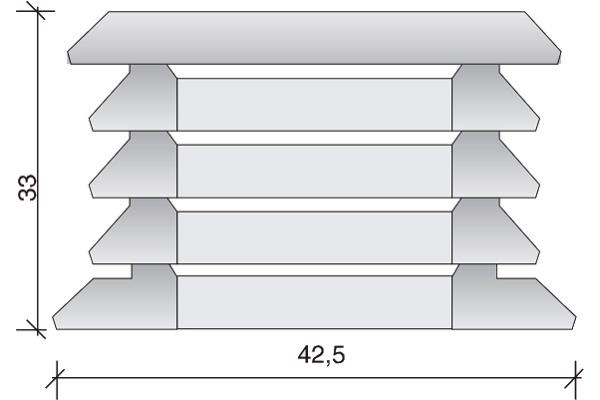 Aspirador estático III, 50 x 50 x 33 cm.