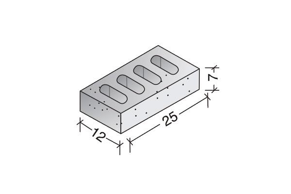 Ladrillo de hormigón perforado