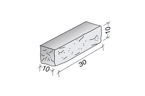 Ladrillo Split 30 x 10 x 10 cm.
