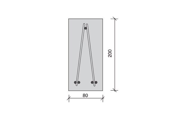 Forjado con placa aligerada de cubierta Placarlit, canto 5 cm. viga tipo 20