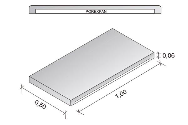 Placa de cubierta Arliblock 6 cm.