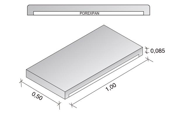 Placa de cubierta Arliblock 8,5 cm.