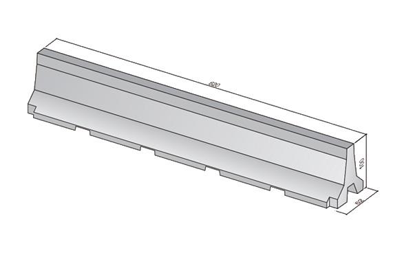 Barrera de hormigón doble prefabricada New Jersey