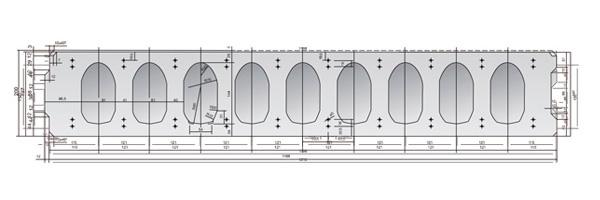 Placa alveolar de fachada 20 cm