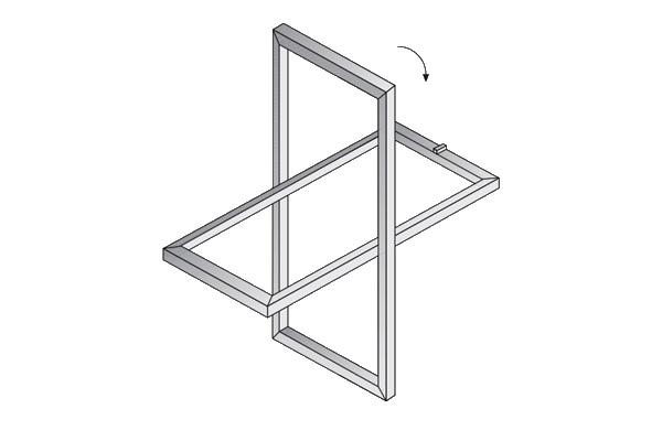 Módulo practicable para ventanales de hormigón