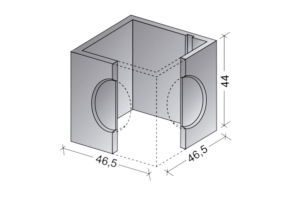 Arqueta abierta 40 x 40 cm.