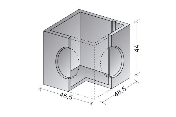 Arqueta cerrada 40 x 40 cm.