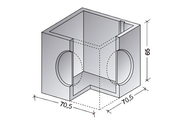 Arqueta cerrada 60 x 60 cm.