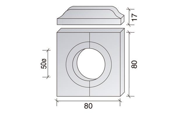 Alcorques de hormigón 80 x 80 cm