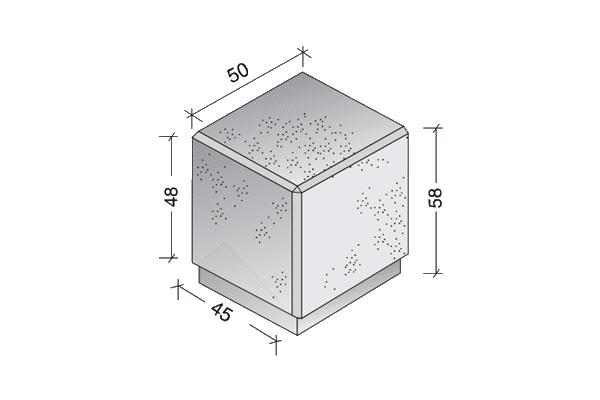 Cubo de hormigón