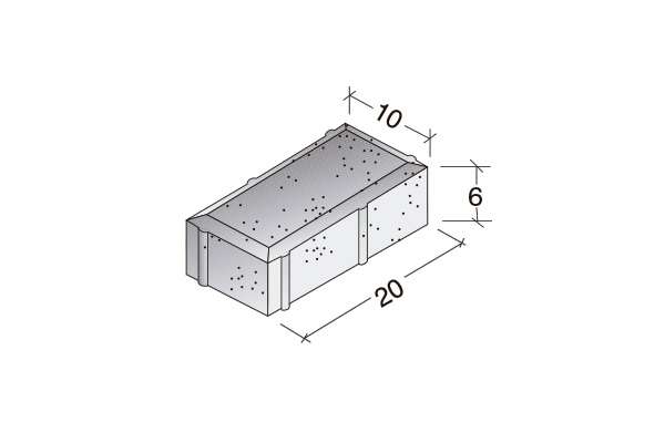 Adoquín rectangular bicapa