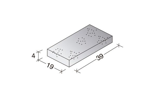 Loseta Standard 40 x 20 x 4 cm.