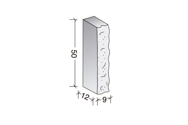 Barrote macizo 50 x 12 x 9 cm.