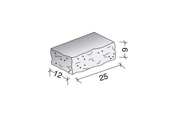 Ladrillo Split 25 x 12 x 9 cm.