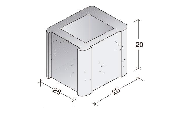 Pieza Standard, esquina, B. 20