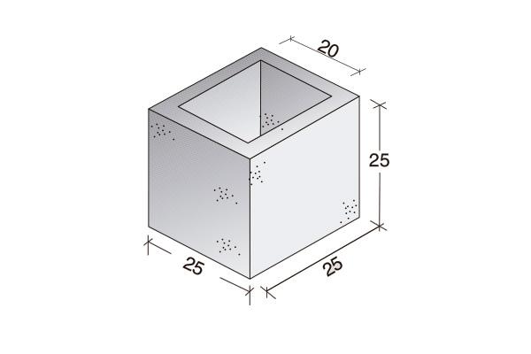 Pieza Standard 25 x 25 x 25 cm.