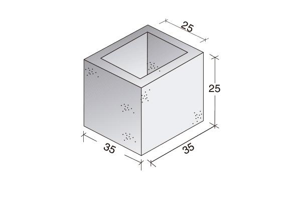 Columna Standard 35 x 35 x 25 cm.
