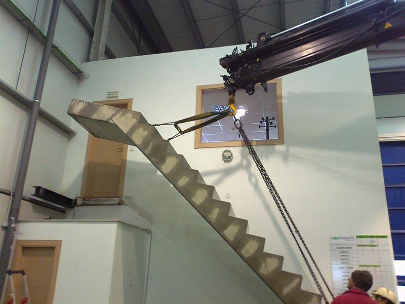 Escaleras prefabricadas de hormigón Roces