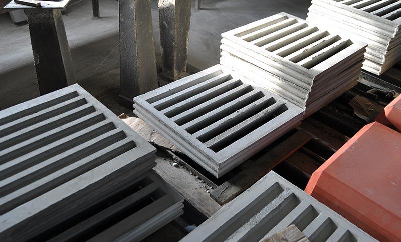 Rejilla de hormigón de lamas fijas 40 x 40 cm. 60x60 cm. 60 x 30 cm. Prefabricados de hormigón Juan Roces S.A.